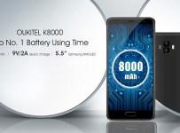 Oukitel K8000: Phablet Baterai 8000 mAh dengan Layar AMOLED 3