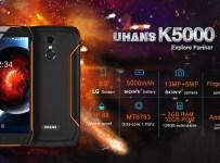 Uhans K5000: Smartphone IP68 dengan RAM 3GB dan Baterai 5000 mAh 3