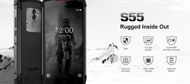 Doogee S55 dirilis: Rugged IP68, Baterai 5500 mAh, Harga Murah 9