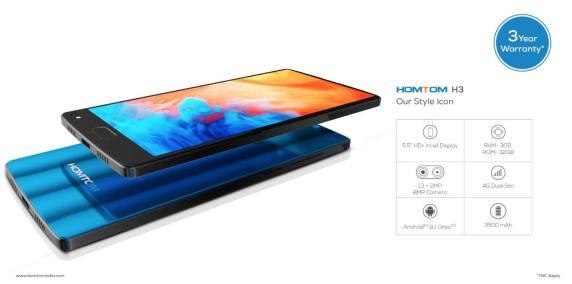 Homtom India Hadirkan 3 Smartphone Murah: Homtom H1, H3 dan H5 7
