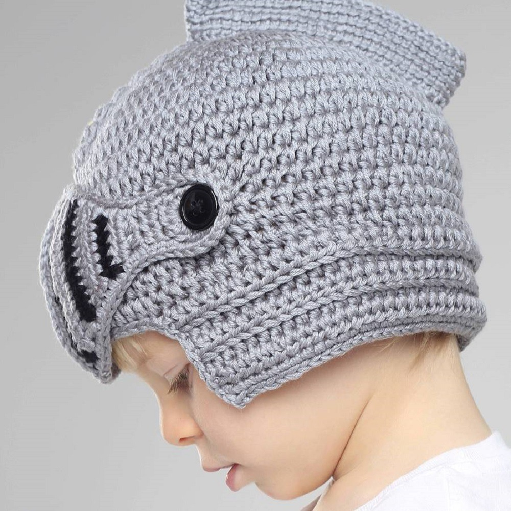 Free Pattern Crochet Knight Helmet