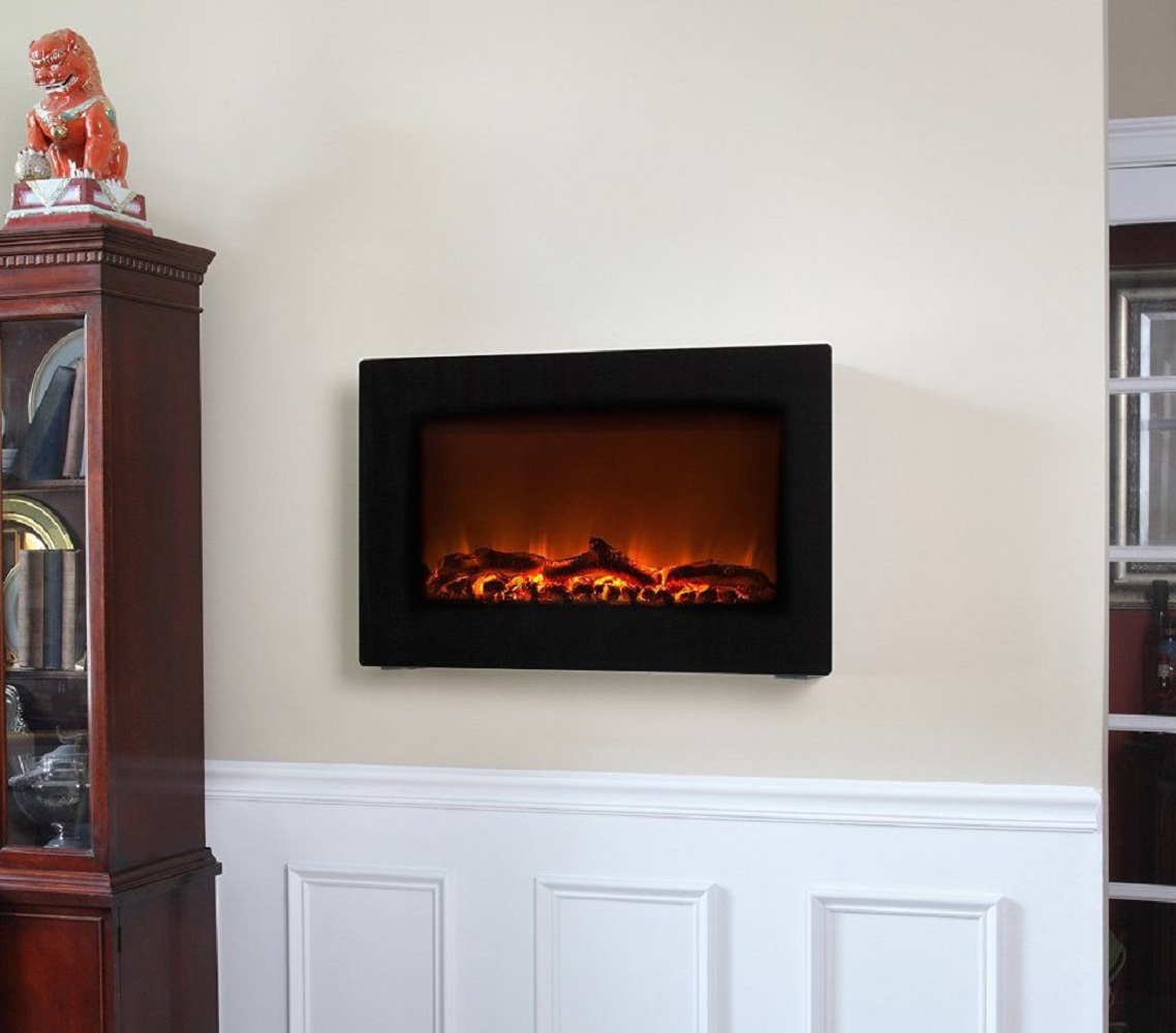 Wall Mounted Indoor Electric Fireplace Gadget Flow