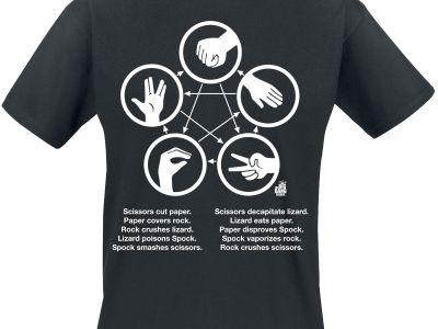 Schere Stein Papier Echse Spock Shirt Vorschau