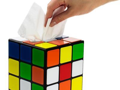 Zauberwürfel Taschentuchbox Vorschau