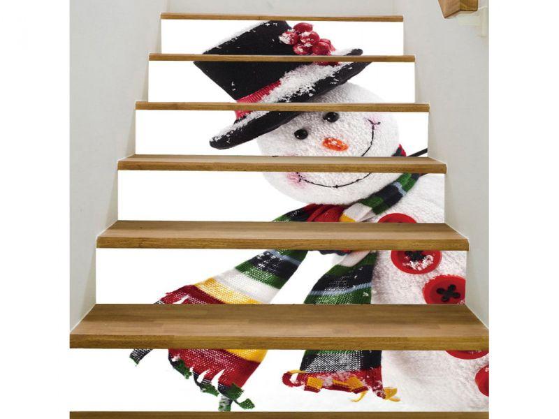Weihnachten Treppenaufkleber