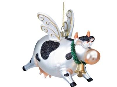Kuh Weihnachtsanhänger