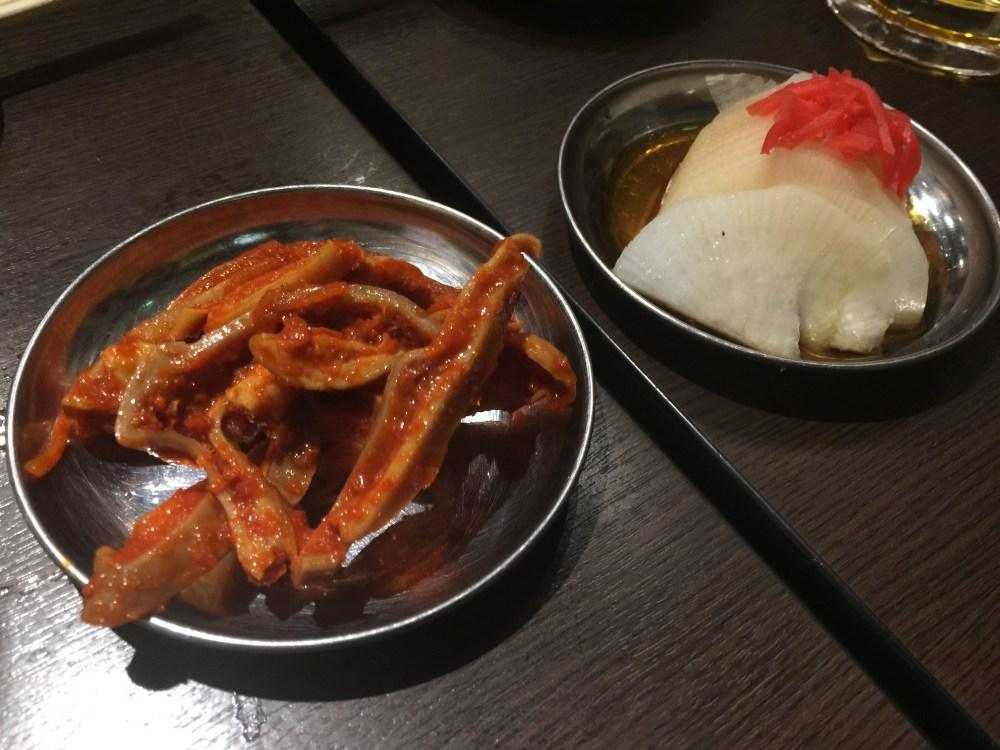 四文屋ガツキムチと大根醤油