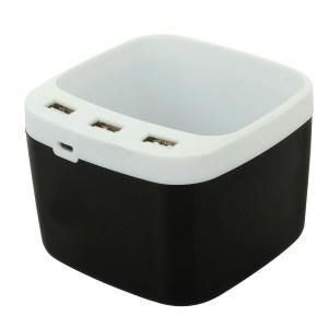 PowerGlow USB hub with tumbler and text highlight | 3 USB ports
