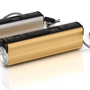 Metal Power Bank With Lighter, Two Level Torch And Blinker (3000 Mah)