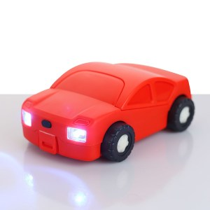 Car shape toolkit with free wheels (21 pc)   with working headlights