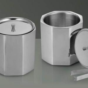 Octa Steel Ice Bucket With Tongs