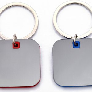 Square Shape Keychain With Highlights