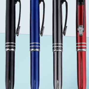 Write In The Dark Executive 'Auto' Pen With Stylus (Brass Body)