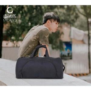 Folding duffel bag (D shape) (cabin size compliant) by Castillo Milano