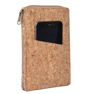 Eco-Friendly Cork All in 1 Passport holder With Sim Card Safe Case & Sim Card Jackets (with carrying strap)