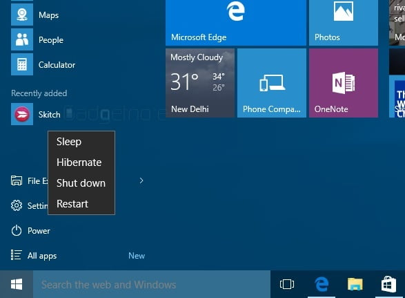 enable sleep mode Windows 10 6