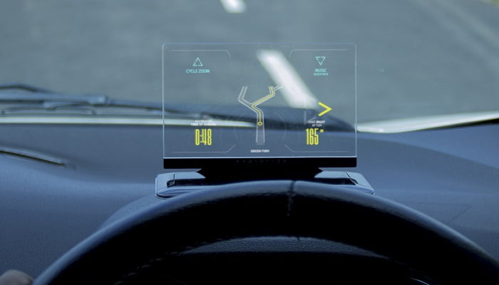 exploride heads up display car navigation