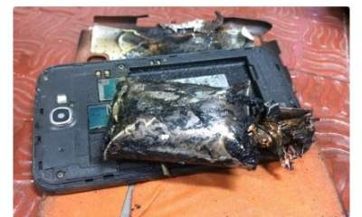 Samsung Galaxy Note 2 on Fire