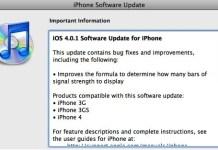 iOS 4.0.1 update