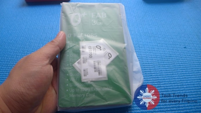 O+ Fab 3G, O+ Fab 3G Unboxing and First Impressions, Gadget Pilipinas, Gadget Pilipinas
