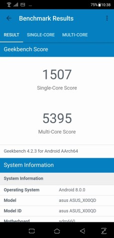 Geekbench Single and Multi-Core