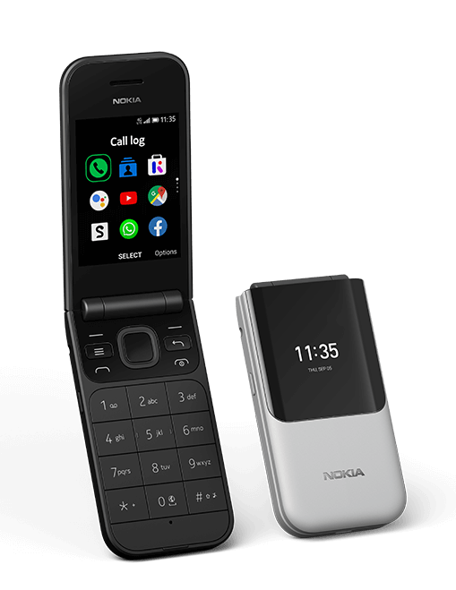 Nokia 2720 Emotional Black Grey SS NoGraphicBg Shadow PNG