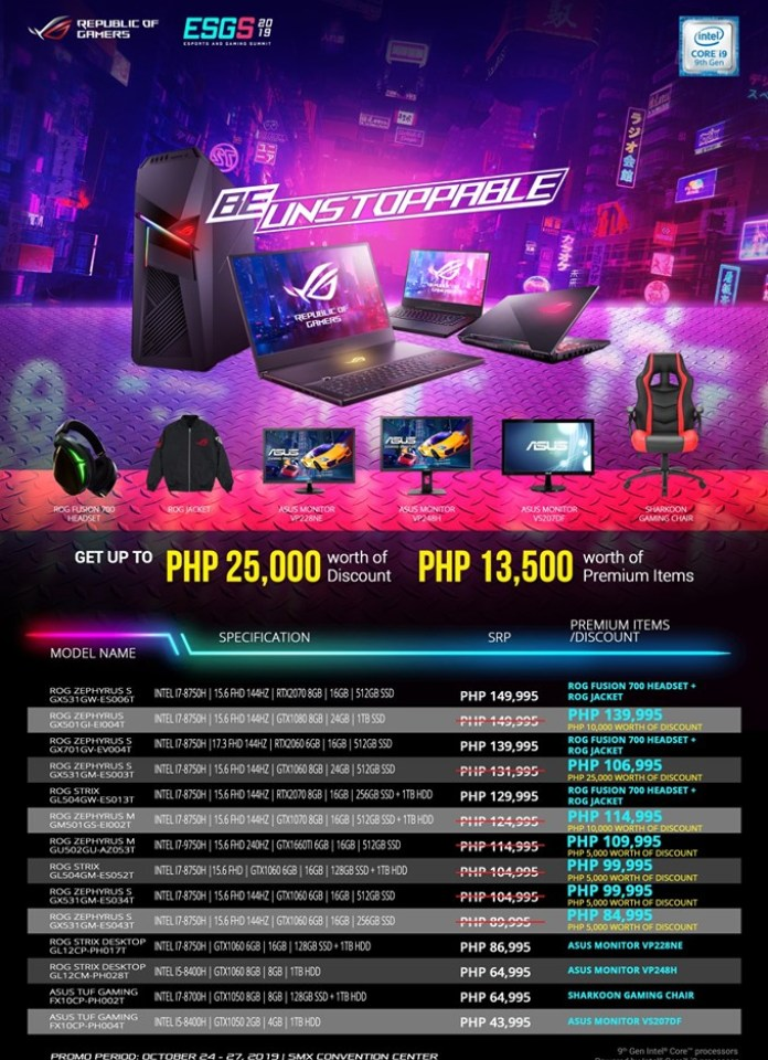 ROG ESGS 2019 System Products