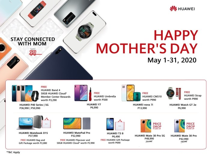 Huawei Mom's Day Promo 2020 - 2