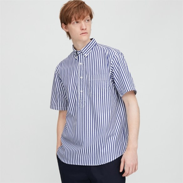 Ms EFC Broadcloth Patterned SS Shirt