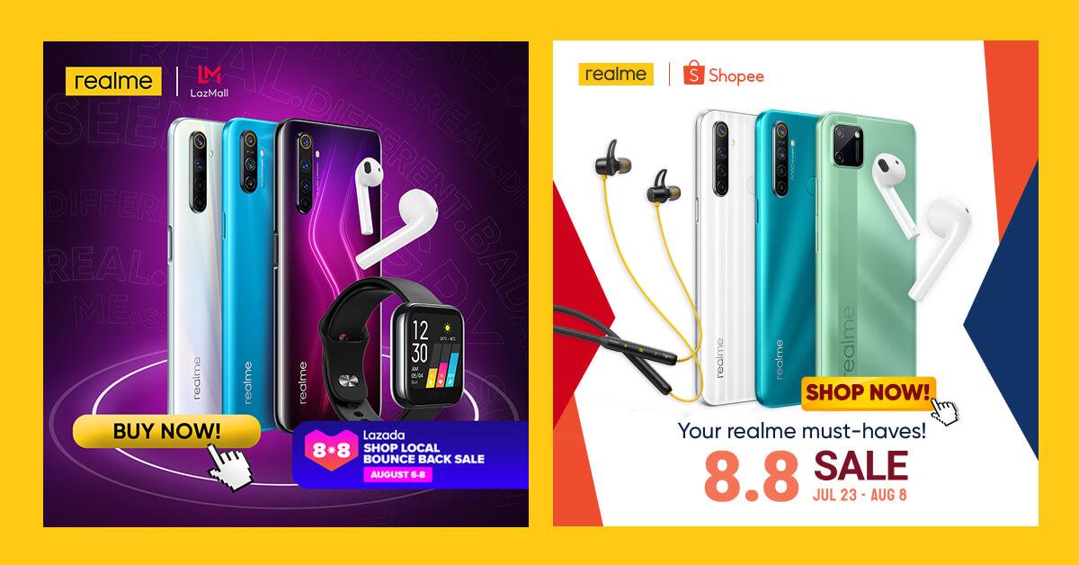 realme Lazada and Shopee 8.8 sale (1)