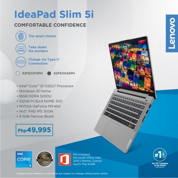 Lenovo Ideapad Slim 5i PH Price peso