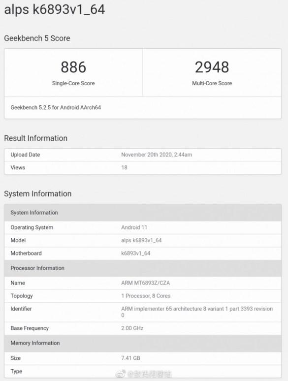 mediatek-mt6893-geekbench-score