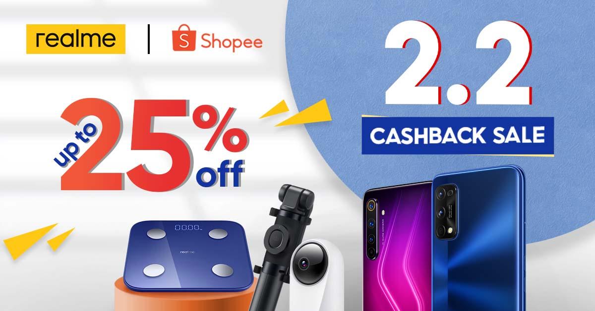 realme Shopee 2.2 Cashback Sale 4
