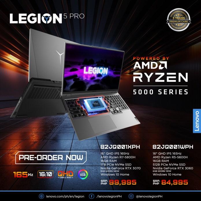 Lenovo Legion 5 Pro RTX 3060 Price PH - Legion 5 Pro RTX 3070 Price Philippines