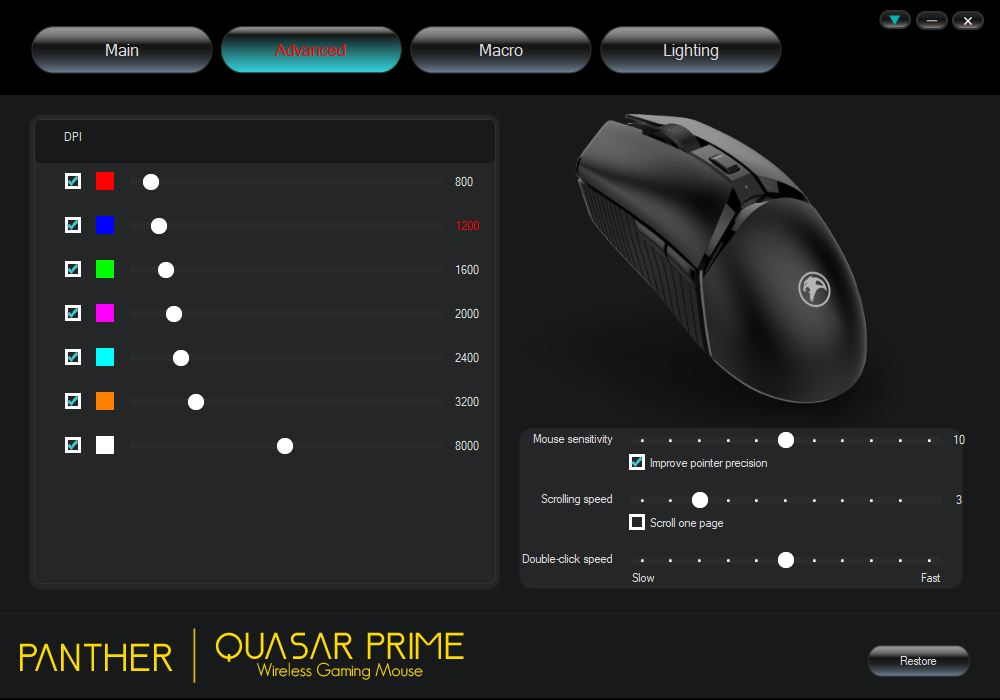 Panther Quasar Prime Wireless Gaming Mouse Review - Software 2