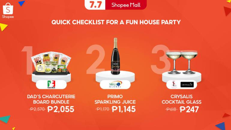 Shopee 7.7 Mid-Year Sale house party