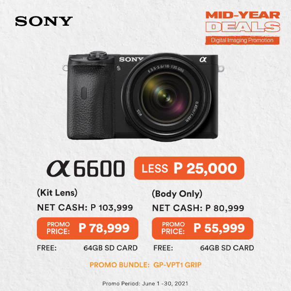 Sony Mid-Year Deals A6600