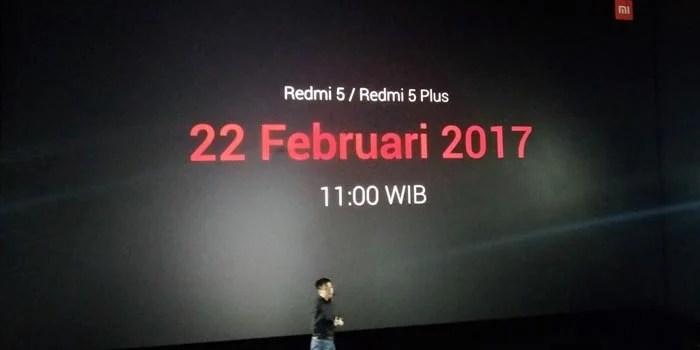 Xiaomi Redmi 5 di depan