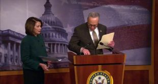 House Democratic Leader Nancy Pelosi and Senator Chuck Schumer hold a press conf…