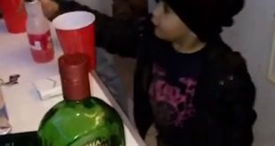 This kid is going to be a party legend! Flippin' cups at age 4, are you kidding …