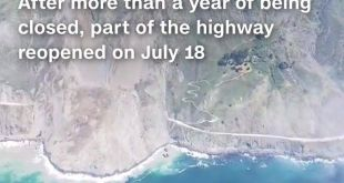 A scenic California highway reopened more than a year after a major landslide bu…
