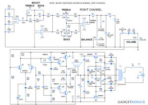 DIY 30 Watt Stereo Amplifier Circuit  Gadgetronicx