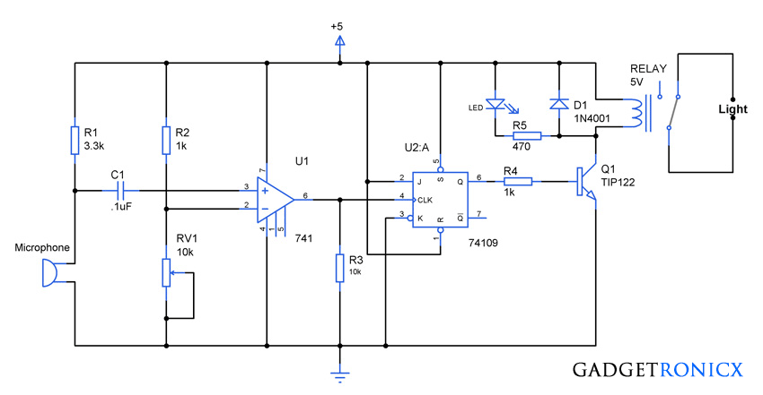Clap Activated Light Circuit