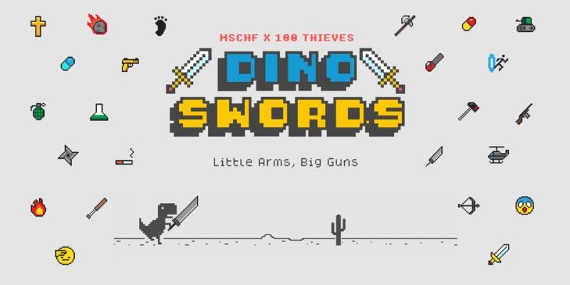 google chrome dino swords