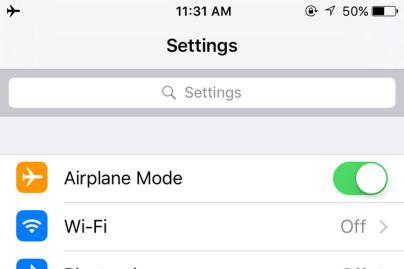 Save Smartphone Batter Airplane Mode