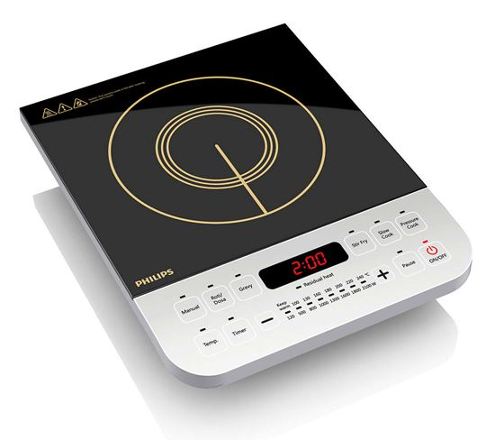 2100-Watt Philips HD4928 Induction Cooktop with Ceramic Panel