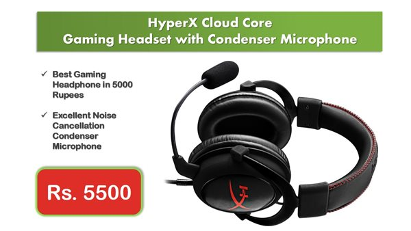 HyperX Cloud Core Gaming Headset with Condenser Microphone