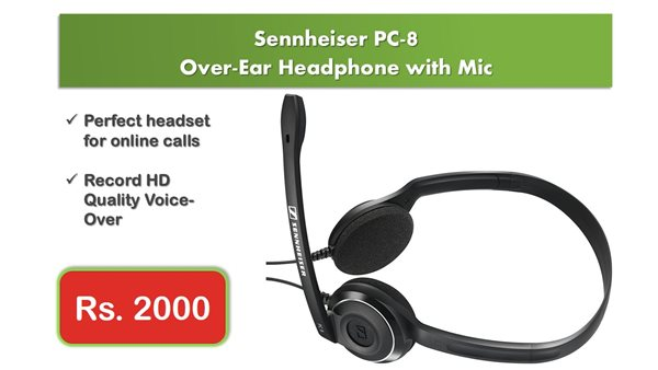 Sennheiser PC-8 Over-Ear Headphone with Noise Cancellation Mic