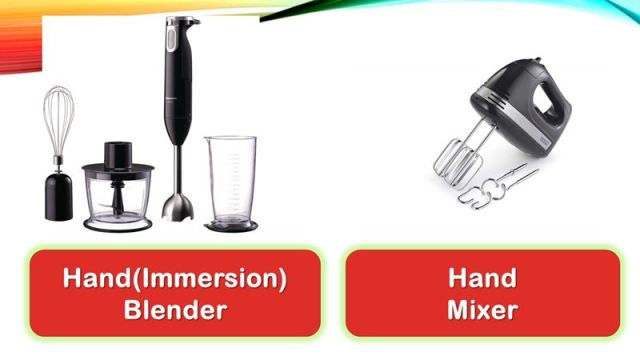 Are hand blenders and immersion blenders the same