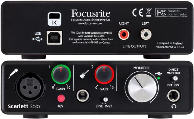 Focusrite Scarlett SOLO USB Audio Interface